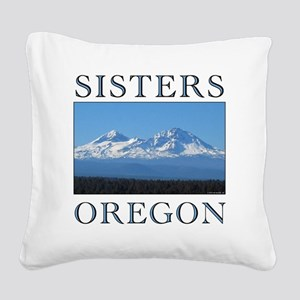 sisters_10t Square Canvas Pillow