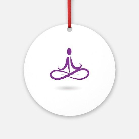 purple 6 Round Ornament