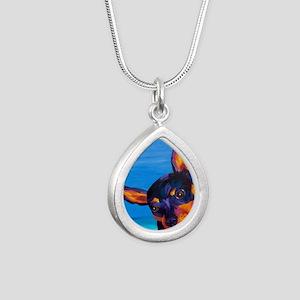 2-PB170481 Silver Teardrop Necklace