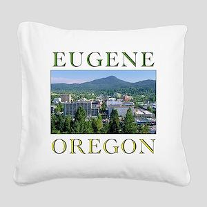 eugene oregon Square Canvas Pillow