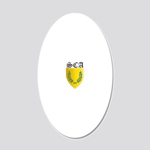 SCA 20x12 Oval Wall Decal
