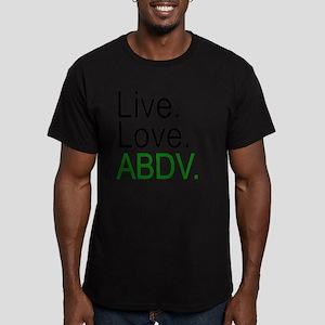 liveloveabdv_light Men's Fitted T-Shirt (dark)