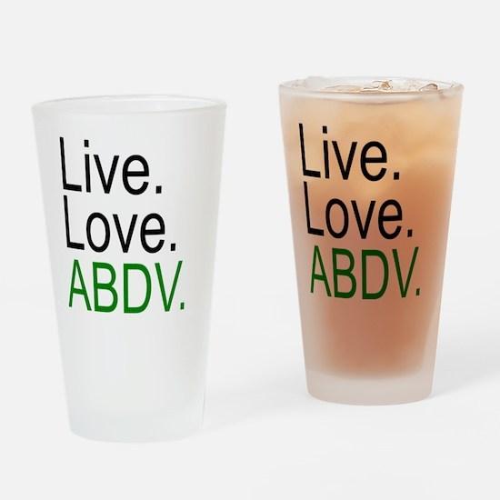 liveloveabdv_light Drinking Glass