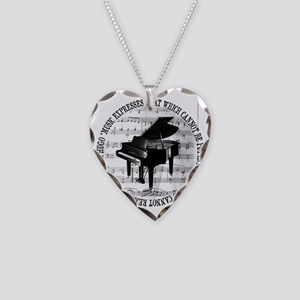 Music Tshirt2 Necklace Heart Charm