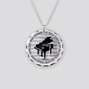 Music Tshirt2 Necklace Circle Charm