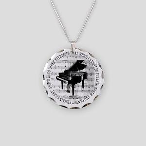 Music Tshirt2 Necklace Circle Charm