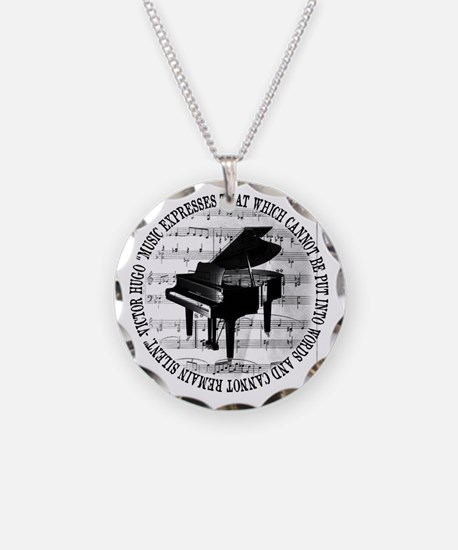 Music Tshirt2 Necklace