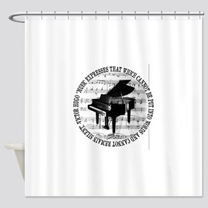 Music Tshirt2 Shower Curtain