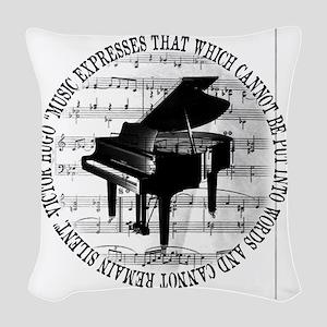 Music Tshirt2 Woven Throw Pillow