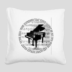 Music Tshirt2 Square Canvas Pillow