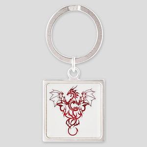 Dragon-Tribal-Tattoo222 Square Keychain