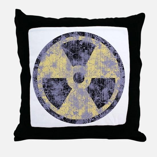 2-Rad-dist-cl-T Throw Pillow