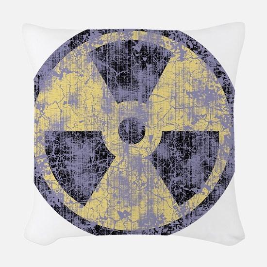2-Rad-dist-cl-T Woven Throw Pillow
