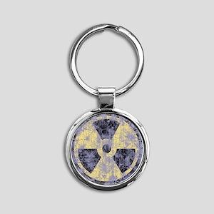 2-Rad-dist-cl-T Round Keychain