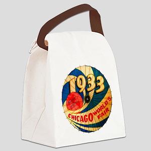 1933 Chicago Worlds Fair Parasol  Canvas Lunch Bag