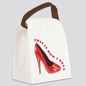 RedHighHeelShoes Canvas Lunch Bag