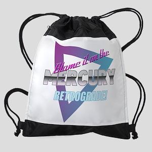 Mercury Retrograde Humor Drawstring Bag