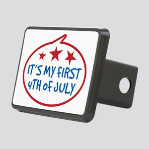Babys First 4th of July Rectangular Hitch Cover