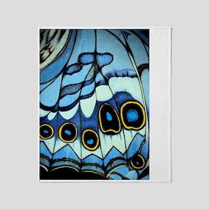 butterflywing blue Throw Blanket