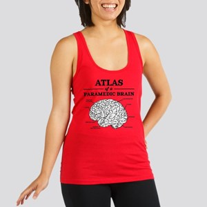 Atlas of a Paramedic Brain Racerback Tank Top