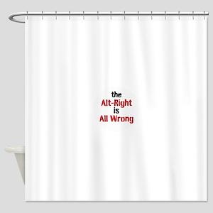 no alt right Shower Curtain