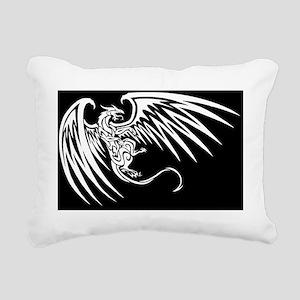 Dragon_white Rectangular Canvas Pillow