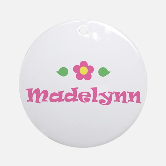 "Pink Daisy - ""Madelynn"" Ornament (Round)"