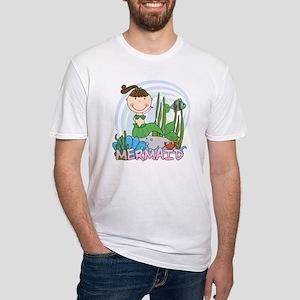 123mermaidbrunette Fitted T-Shirt