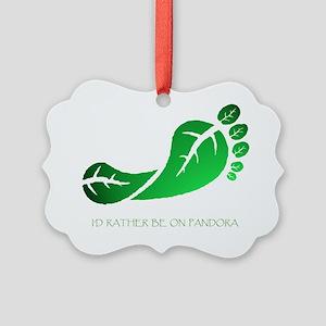 Av barefoot 1 Rather Be on Pandor Picture Ornament