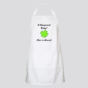 Shamrock baby due in march BBQ Apron