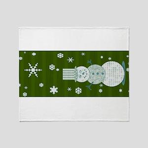 Patchquilt Snowman Throw Blanket
