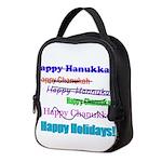 happyhanukkah.png Neoprene Lunch Bag