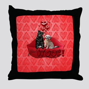 You_Had_Me_At_Woof Throw Pillow