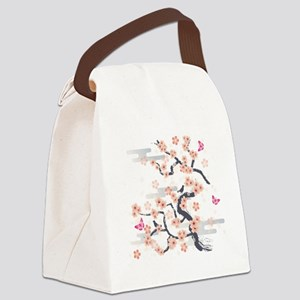 JAPANESE Blossom Canvas Lunch Bag