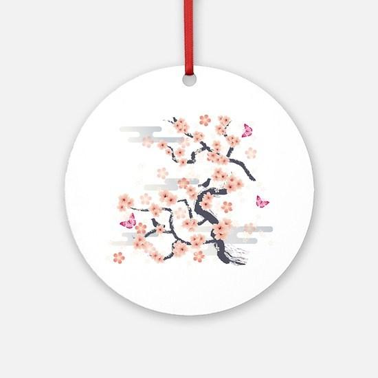 JAPANESE Blossom Round Ornament