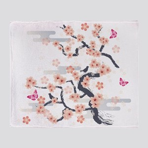 JAPANESE Blossom Throw Blanket