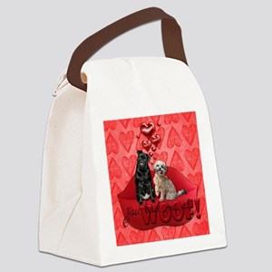 You_Had_Me_At_Woof_Sq Canvas Lunch Bag