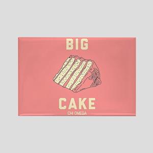 Chi Omega Big Cake Rectangle Magnet