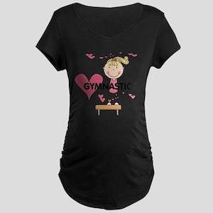 GYMNASTICSFIVE Maternity Dark T-Shirt