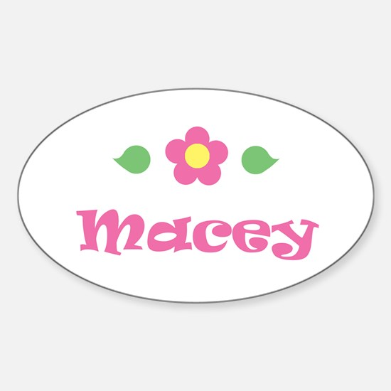 """Pink Daisy - """"Macey"""" Oval Decal"""