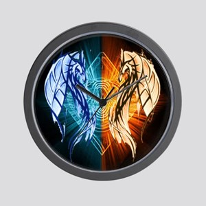 Dragons - Fire And Ice Wall Clock