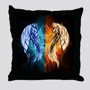 Dragons - Fire And Ice Throw Pillow