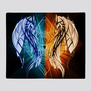 Dragons - Fire And Ice Throw Blanket