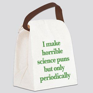 I Make Horrible Science Puns Canvas Lunch Bag