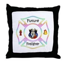 Future Firefighter Throw Pillow