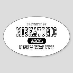 Miskatonic University Oval Sticker