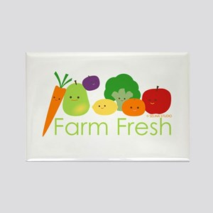 """Farm Fresh"" Rectangle Magnet"
