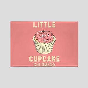 Chi Omega Little Cupcake Rectangle Magnet