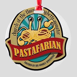 Pastafarian Seal Round Ornament