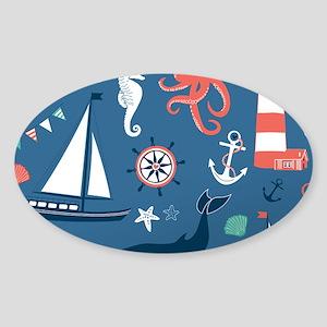 Nautical Scene Sticker